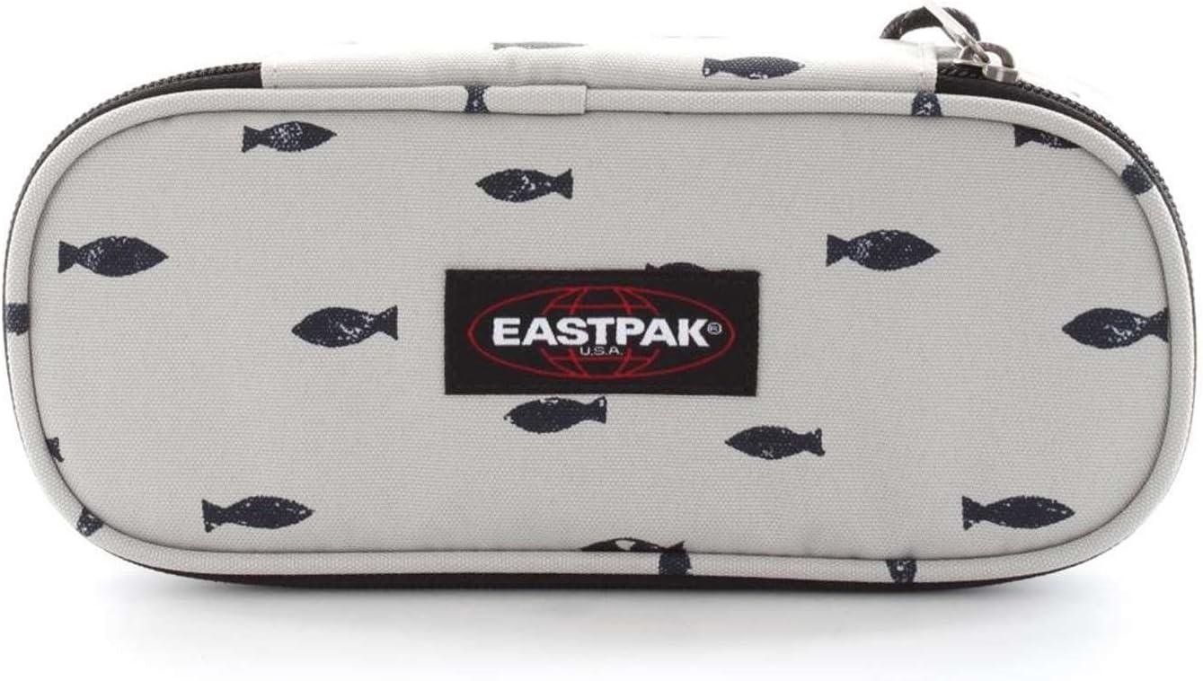 Eastpak Oval Single Estuche, Diseño Fish Stamp, Color Blanco: Amazon.es: Equipaje