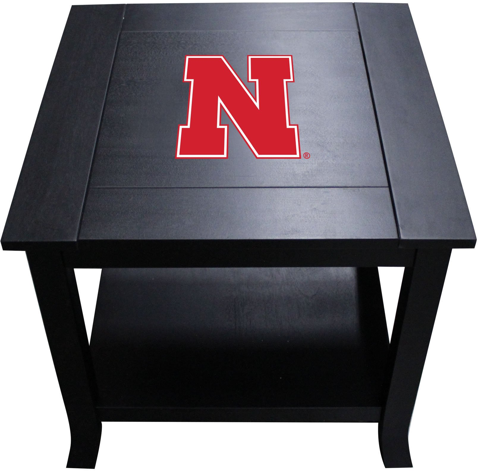 Imperial Officially Licensed NCAA Furniture: Hardwood Side/End Table, Nebraska Cornhuskers by Imperial