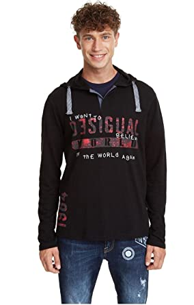 Desigual - Camiseta GABRIELLO Hombre Color: 2000 Talla: Size S