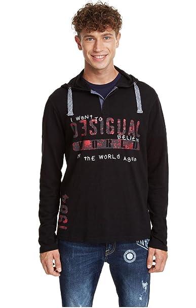 Desigual - Camiseta GABRIELLO Hombre Color: 2000 Talla: Size S ...
