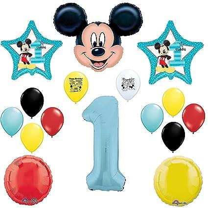 Amazon.com: Mickey Mouse 1st fiesta de cumpleaños globo ...