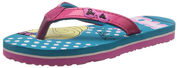 Barbie Girl's Flip-Flops and House Slippers Girls' Flip-Flops & Slippers at amazon