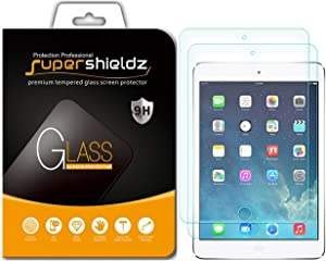 (2 Pack) Supershieldz for Apple iPad Mini 3, iPad Mini 2 and iPad Mini (1st Generation) Tempered Glass Screen Protector, Anti Scratch, Bubble Free