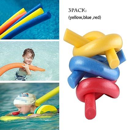 haolong adulto y niño flotador espuma rehabilitación agua Natación – 3 unidades (rojo, amarillo