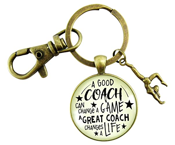 363f56ce Amazon.com: Gymnastics Coaching Keychain A Great Coach Changes A ...