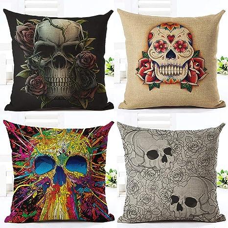 Fansu Fundas de Cojines para Sofa Halloween, Impresión del ...