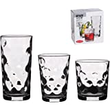 18 Piece Drinking Glassware Set - Includes Highball, Medium and Tumblers (Bubble (SPACE))