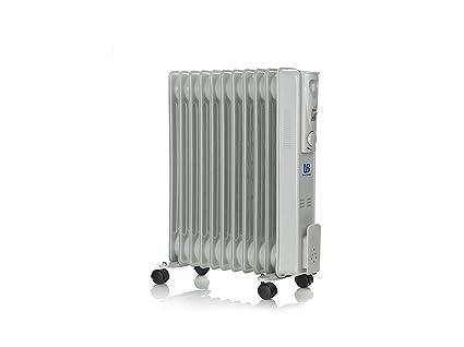Universal Blue URA2500-16 Radiador de Aceite 2500 W, Gris