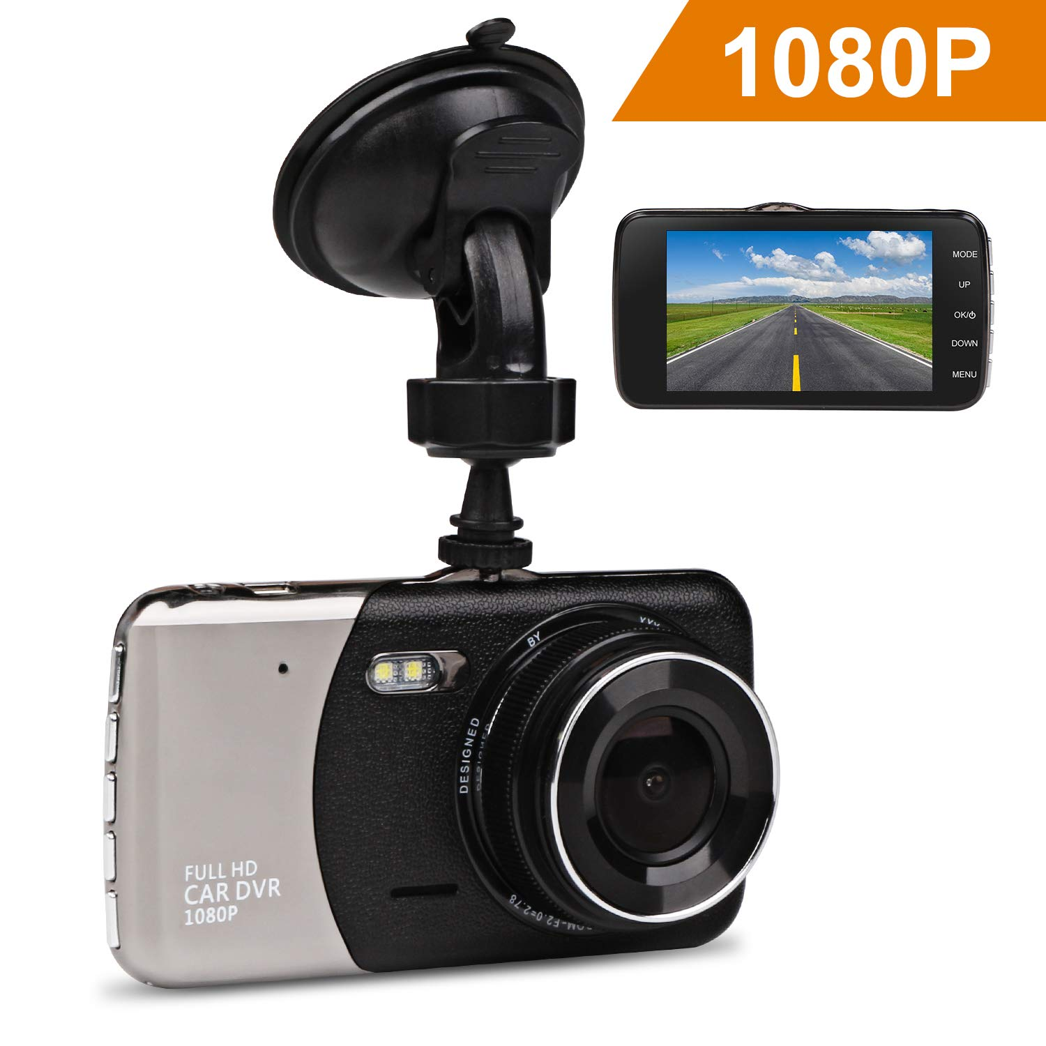 Car Dash Cam, JC Beauty[New Upgrade Version] 170° Wide Angle Front and Rear Dual Lens Digital Mini Camera DVR 1080P Full HD, For Video Loop Recording Dashboard, Built in G-Sensor, Park Monitor CAM-01