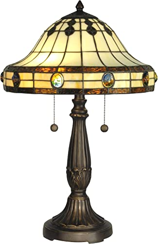 Dale Tiffany TT10034 Tiffany Mission Table Lamp, Antique Golden Sand and Art Glass Shade