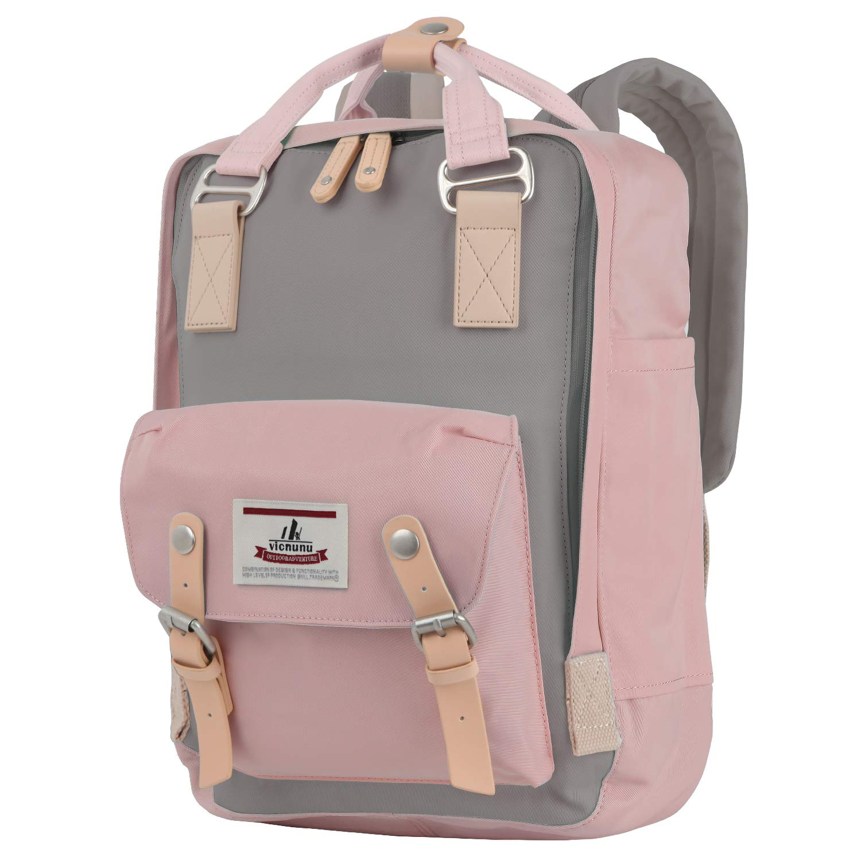 vicnunu Backpack Fits Up to 13'' Laptop Backpack Waterproof & Lightweight Vintage Travel Bag Multiple Pockets College Backpack for Women & Men.(DLB-1) by vicnunu