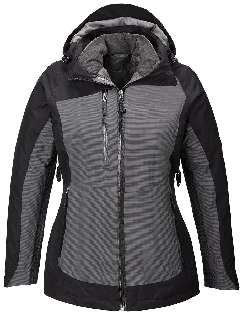 North End Sport Red Alta Ladies 3-In-1 Seam-Sealed Jacket, Black, XX-Large