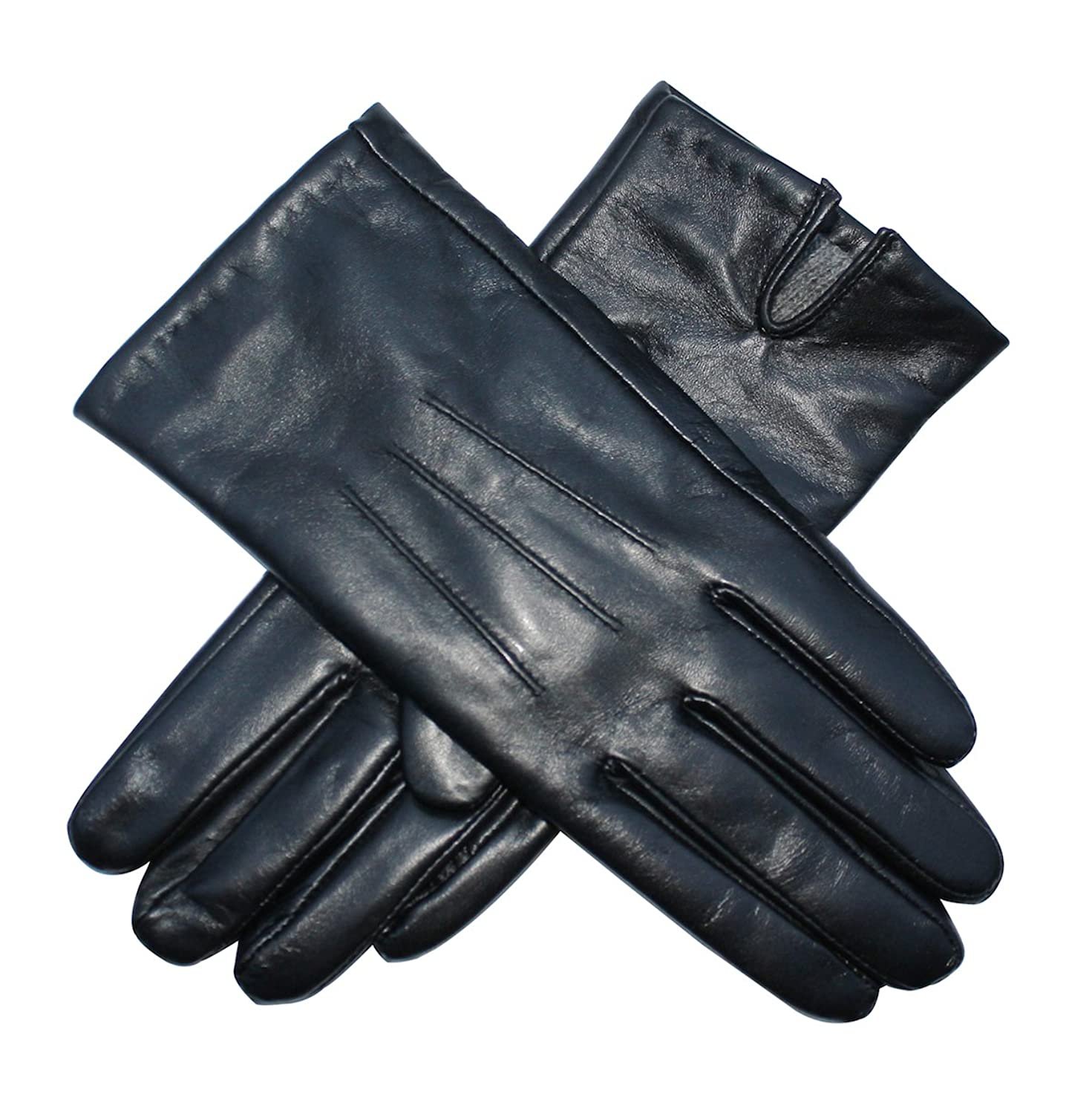 John lewis ladies black leather gloves - Jasmine Silk Ladies Luxury Genuine Lambskin Leather Cashmere Lined Gloves Black