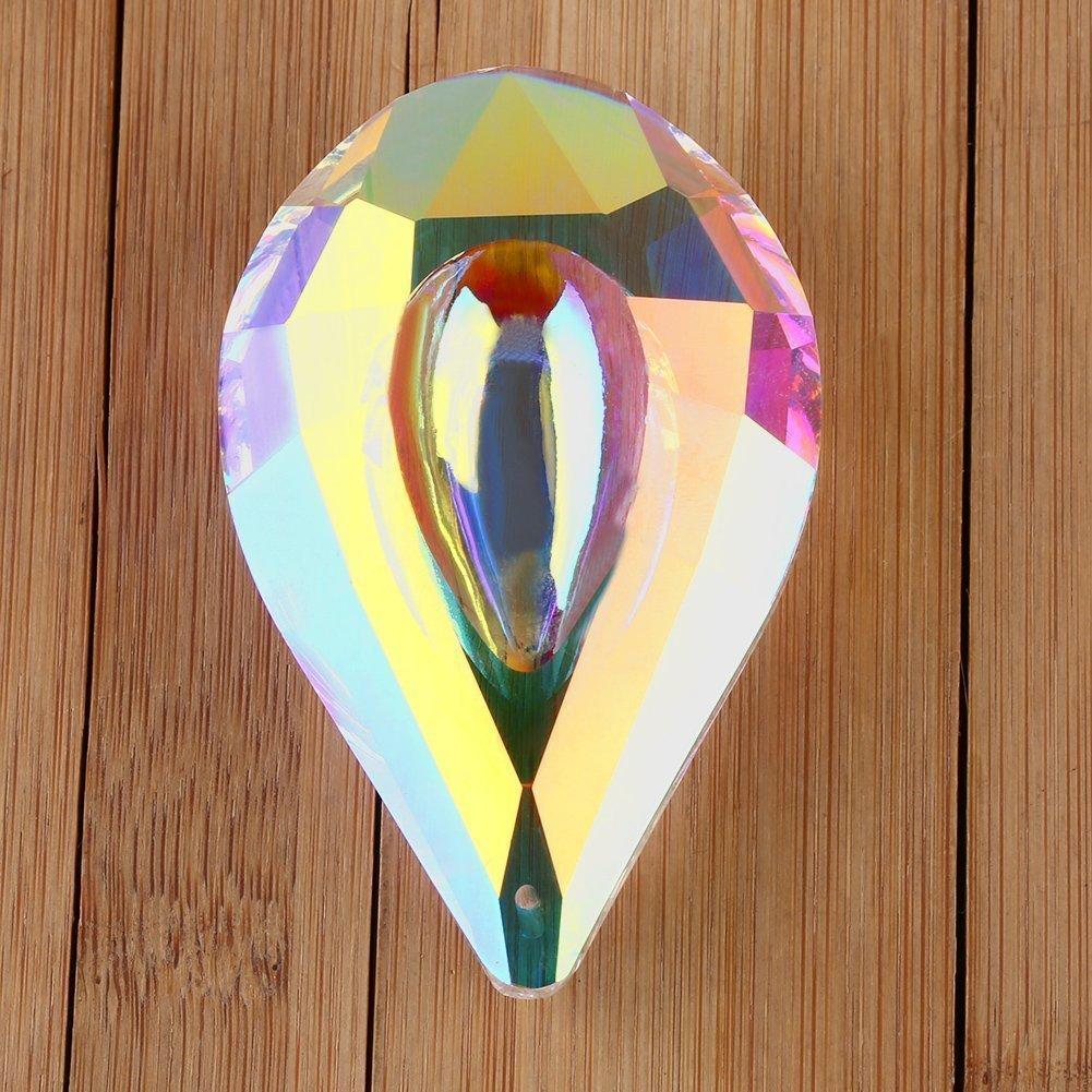 3pcs Colorful Crystal Chandelier Lamp Hanging Ornament Prisms Loquat DIY Suncatcher Rainbow Maker Pendant 76mm