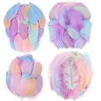 Mwoot 400 pcs Plumas de Colores, de artesanía