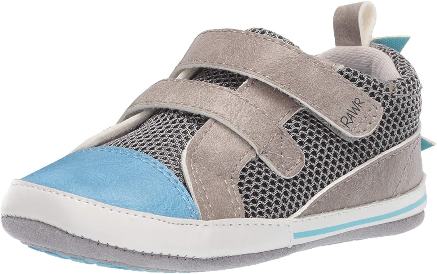 Ro Me By Robeez Boys Dinosaur Sneaker Crib Shoe Light Blue 18 24 Months Amazon Ca Shoes Handbags