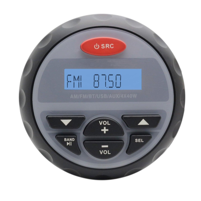 Impermeabile Marine Radio Audio Stereo Bluetooth MP3 Sistema audio per barca ATV Moto Radio FM AM 3 inch altoparlanti impermeabili