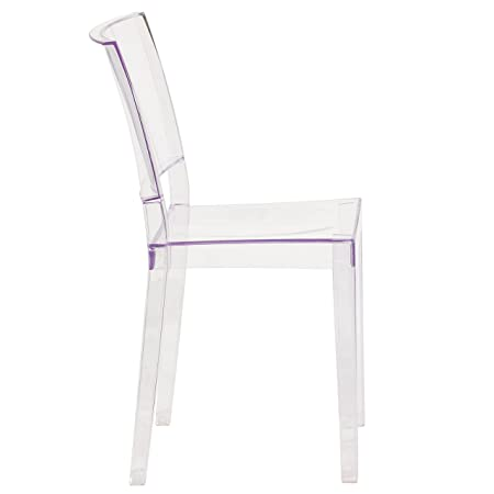 Flash Furniture FH-121-APC-GG Phantom Series Transparent Stacking Side Chair, 1 Pack