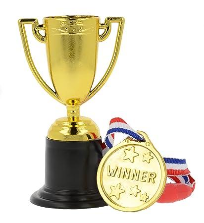 Storm&Lighthouse 24x Medallas y trofeos de plástico - Rellenos para Bolsas de Fiesta / premios en el Aula / Juguetes para niños / premios