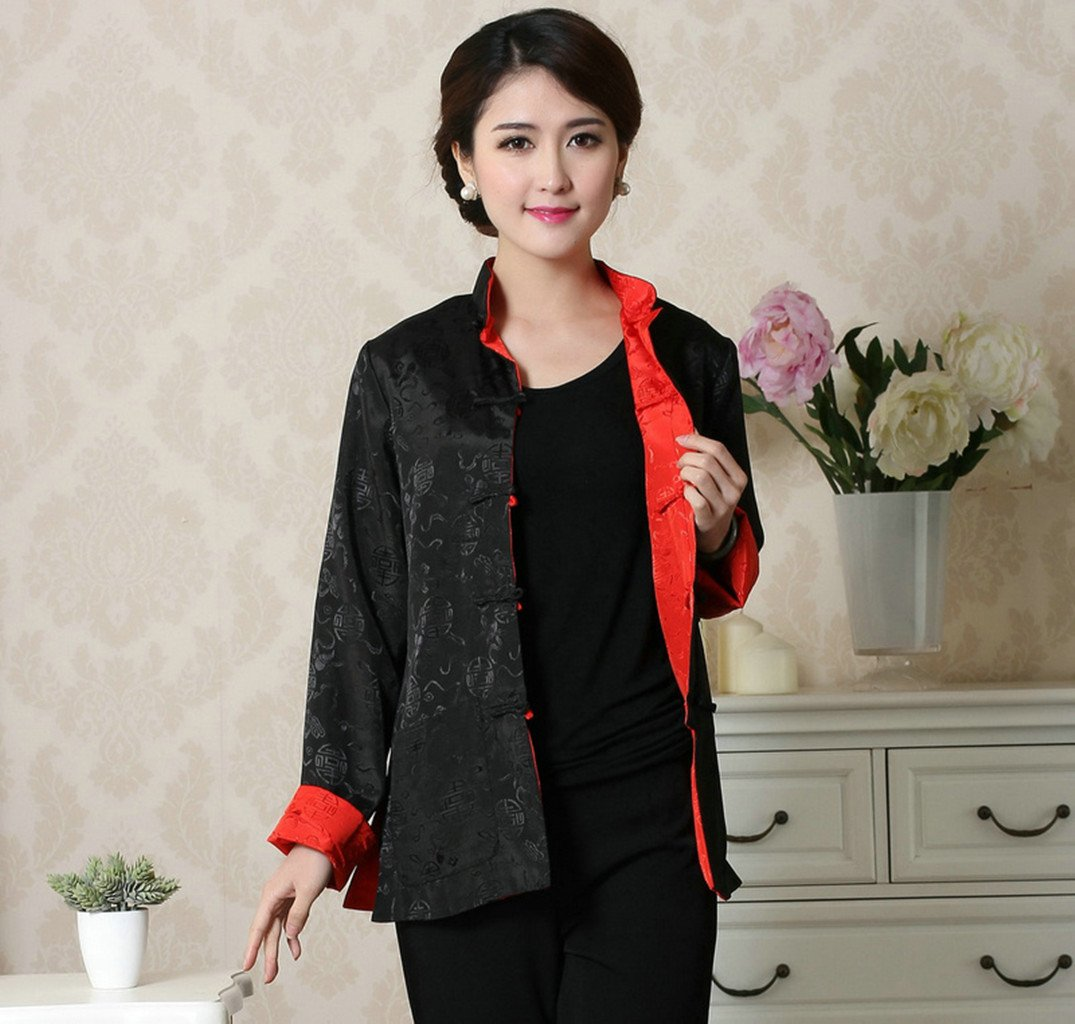 Womens Tang Suits Womens Leisurewear Double-sided Wear Spring and Autumn Womens Clothes Long sleeved Coat Chinese Jackets by Womens Tang Suit (Image #2)