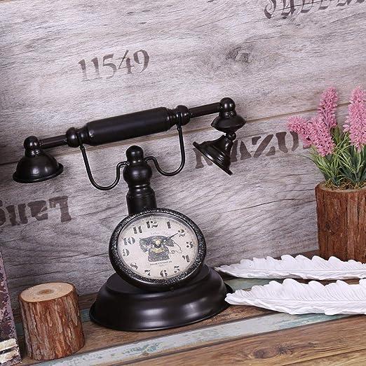 ksjdjok Shabby Chic Retro Modelo de teléfono Modelo Vintage Decor ...