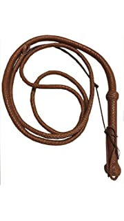 Black /& White 4 FOOT  Real Cowhide  Leather Flogger Bullwhip Two sting Tail whip