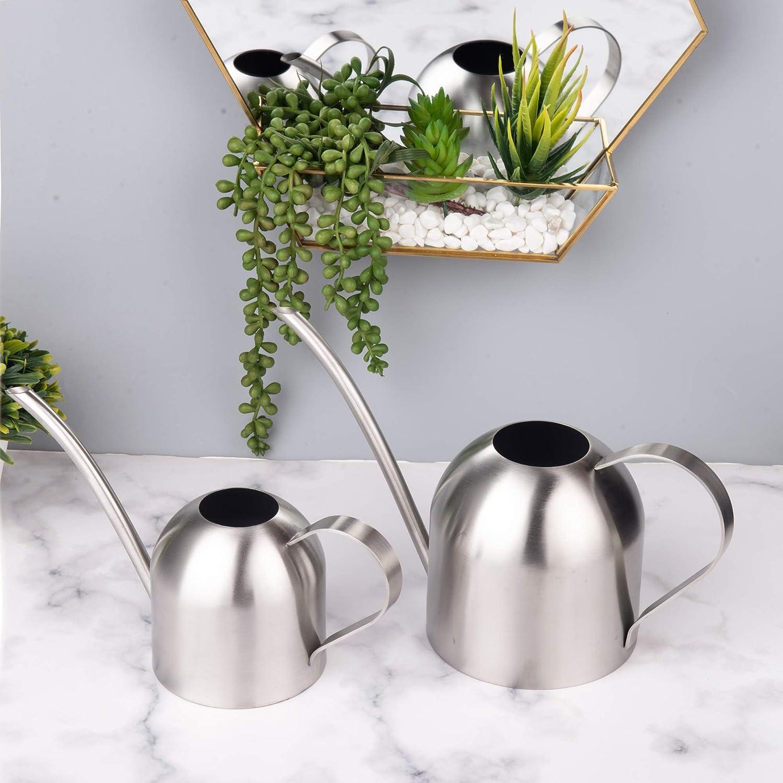 plantes bureau maison 577 en acier inoxydable bonsa/ï IMEEA Mini arrosoir dint/érieur pour enfants 33oz//1L Argent/é