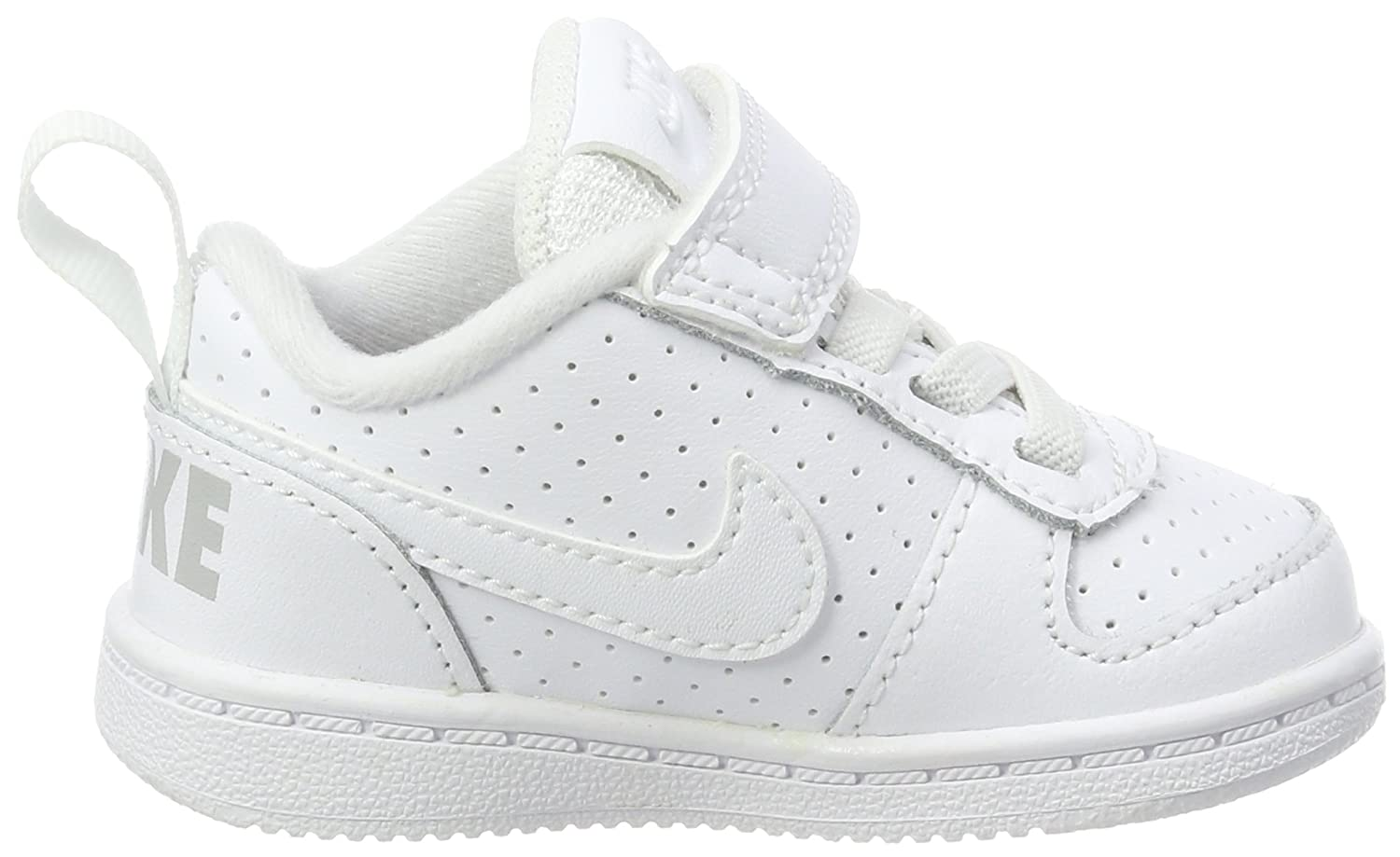Nike Court Borough Low (TDV), Zapatillas de Estar por Casa Bebé Unisex, Blanco (White/White 100), 21 EU