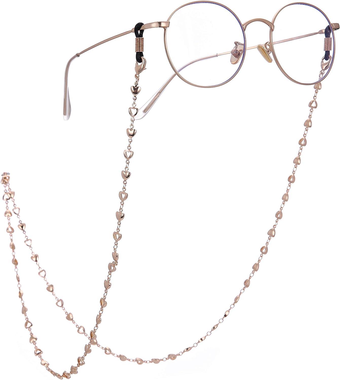 Amazon.com: LIKGREAT 2pcs Retro Eyeglass Chain Holder for Women Heart  Beaded Reading Glasses Cords (Gold(1pcs)): Jewelry
