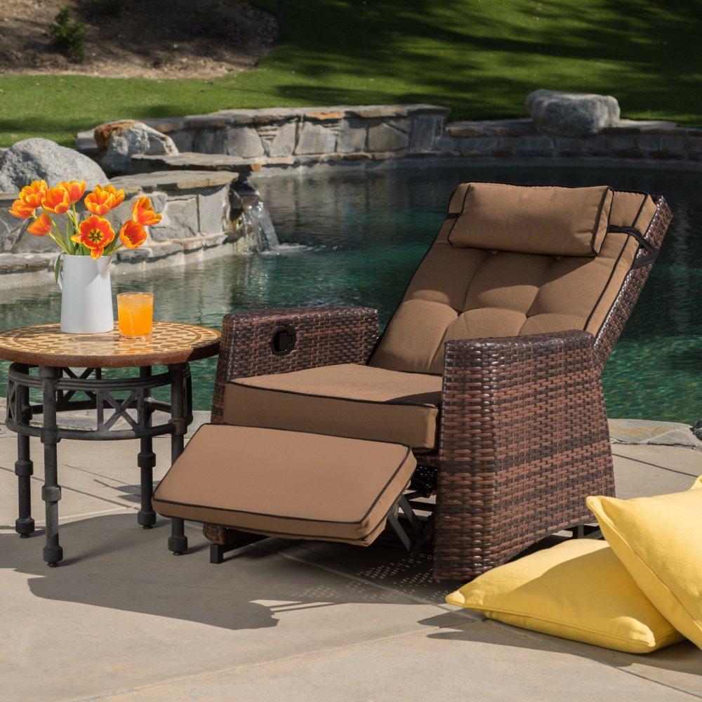 Amazon.com : Best-selling PE Wicker Outdoor Recliner : Outdoor And ...