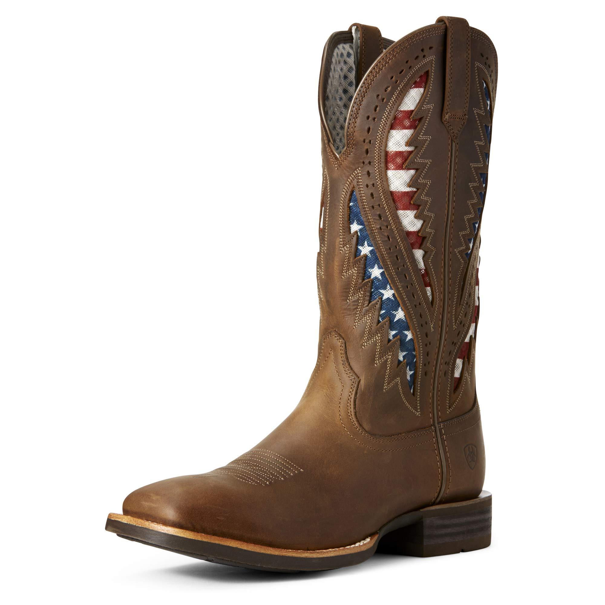 Ariat Men's Quickdraw Venttek Western Boot, Distressed Brown, 9.5D by ARIAT