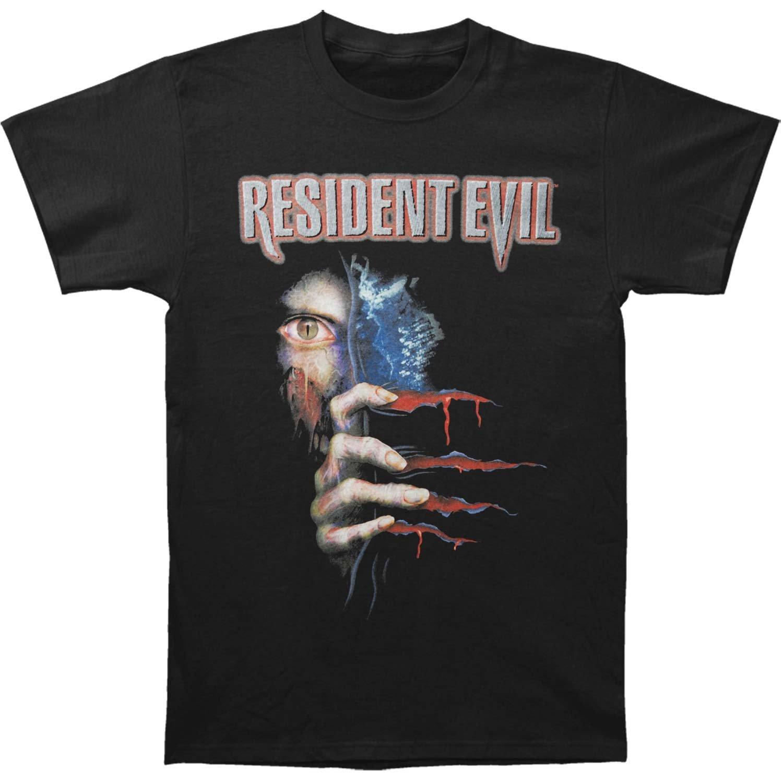Resident Evil Horror Film Video Game 20th Anniversary Zombies Adult Tshirt Tee Black