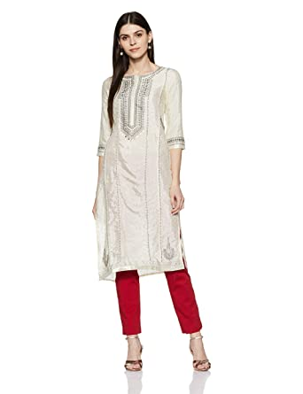 b29d724af W for Women s Straight Kurta  Amazon.in  Clothing   Accessories