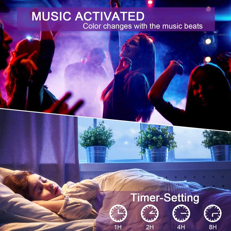 LED TV Hintergrundbeleuchtung mit APP-Steuerung SMD5050 RGB f/ür Android iOS Sruik Upgrade 3M LED Streifen USB-betrieben f/ür 46-65 Zoll Fernseher Vorspannungs Beleuchtung Synchronisierung mit Musik