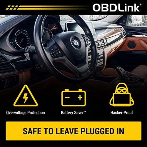 The OBDLink can be left plugged it without any hassles