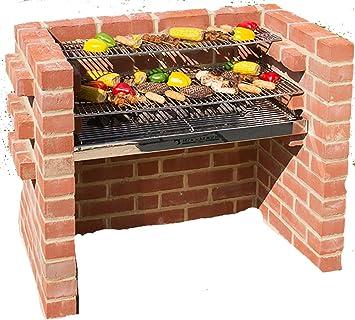 Barbacoa de ladrillos kit 100% muy pesada acero inoxidable + calentamiento Rack 90 x 39
