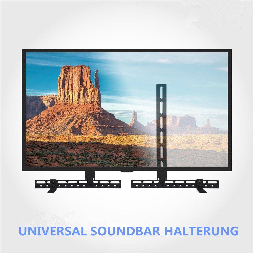 Malayas®, supporto universale per soundbar da posizionare sopra o sotto la televisione, si adatta a qualsiasi supporto per la televisione Malayas®