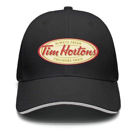 2a21e9cad JIAJIAJIAN One Size Tim-Hortons-Logo- Printing Athletic Twill ...