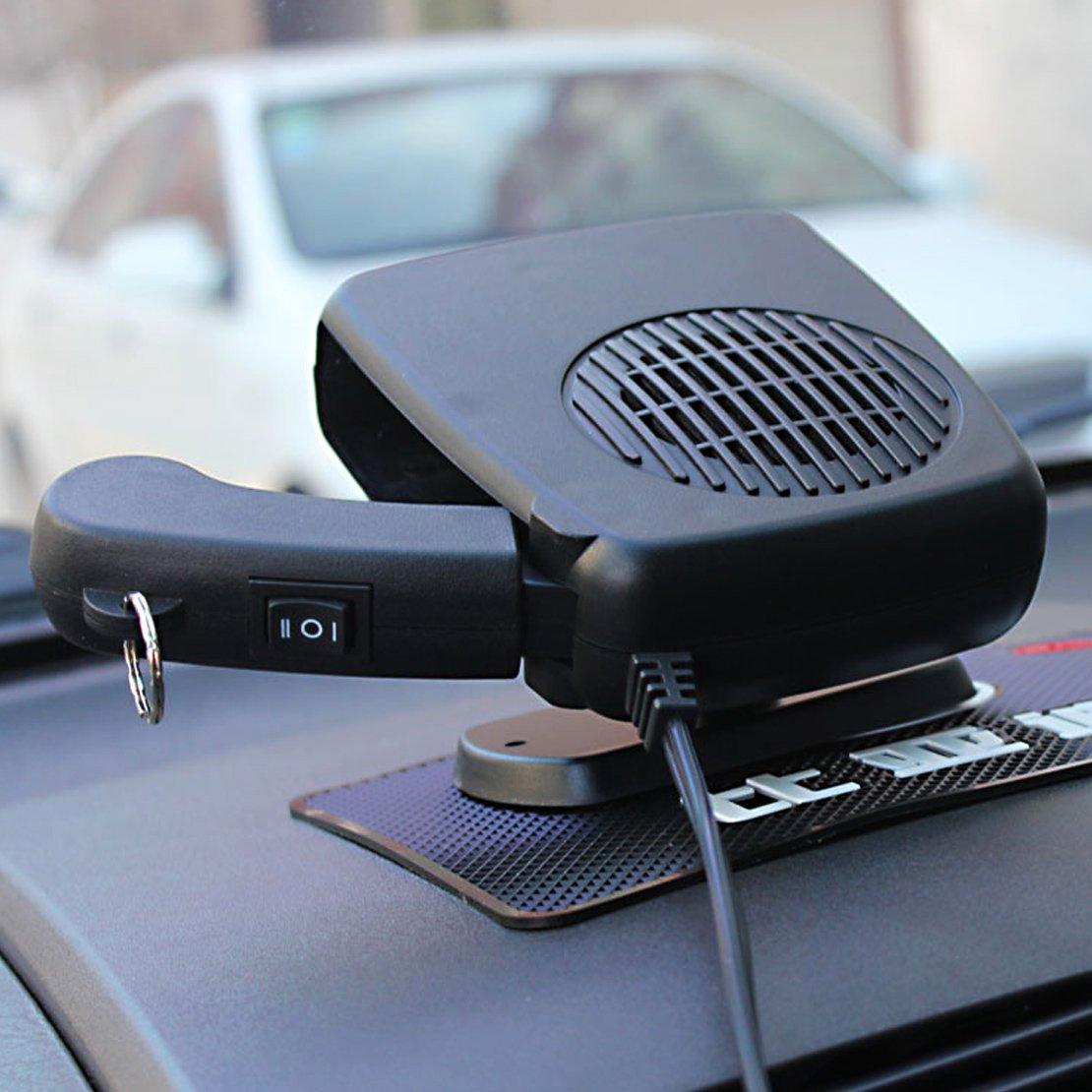 beler Universal Car 2 in 1 12V Portable Dryer Heater Fan Defroster Demister Windshield Heating Cooling Air Blower hermeshine