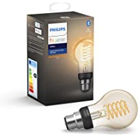 Philips Hue White Filament Single Smart LED Bulb [B22 Bayonet Cap] with Bluetooth. Compatible with Alexa and Google…