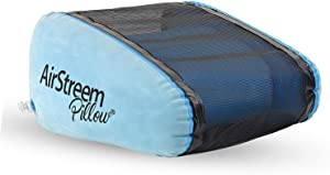 Airstreem Inflatable Pillow - Inflatable Beach Pillow That Circulates Air For Cool Comfort - Portable, Lightweight and Inflates Easily – Breathable Mesh, Ideal for Beach / Pool Reading and Relaxing