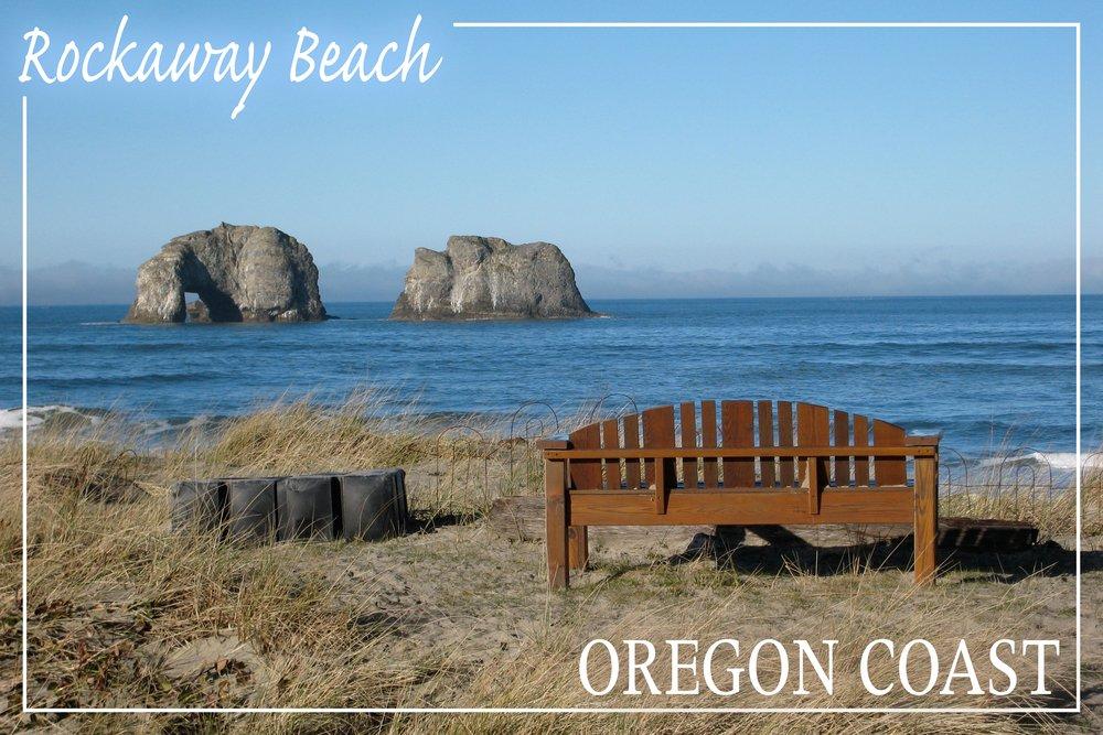 春早割 Rockaway Beach、オレゴン州 – Rockaway Beach andベンチ 16 x 24 Giclee Print LANT-49238-16x24 B017EA1XY0  36 x 54 Giclee Print 36 x 54 Giclee Print, 本格手打 もり家 2d49d6ae