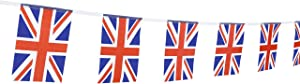 XCFH 114PCS United Kingdom UK Banner String,150 Feet British Union Jack Pennant Flags Party Decorations Supplies for Olympics,Indoor and Outdoor Flags,Sports Events,International Festival…
