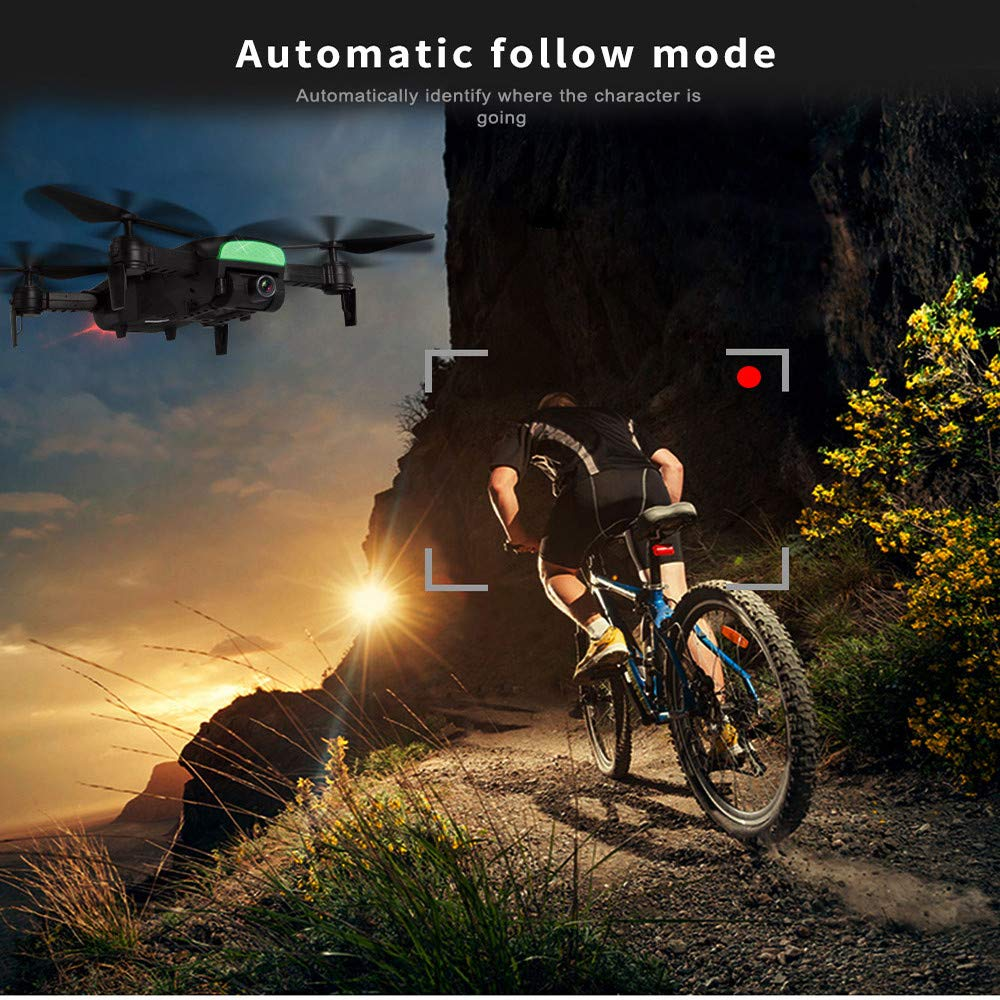 MOZATE LH-X41F 2.4Ghz 4CH Attitude Hold WiFi 720P Optical Flow Dual Camera RC Quadcopter Drone (Black) by MOZATE (Image #6)