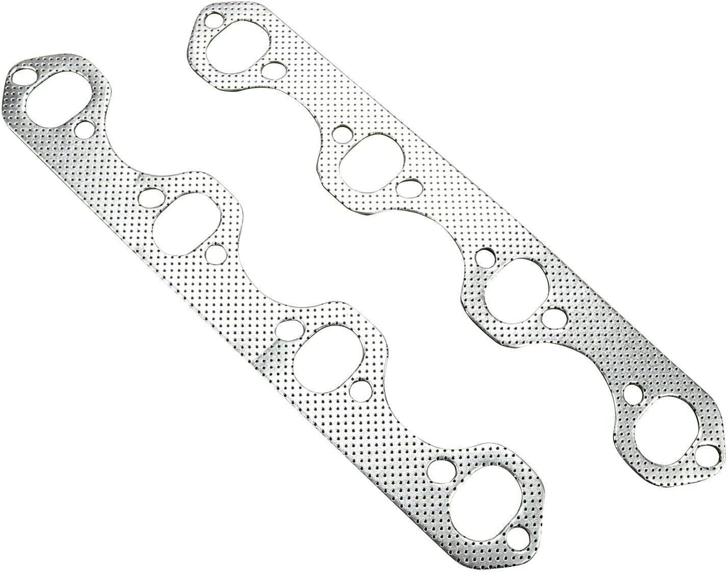 EASYBERG Fit for Ford F150 F250 Bronco 5.8L V8 Stainless Steel Manifold Exhaust Header 1987-1996