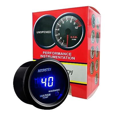 HOTSYSTEM Universal Water Temp Gauge Temperature Meter Blue Digital LED DC12V 2inches 52mm for Car Automotive(Celsius): Automotive
