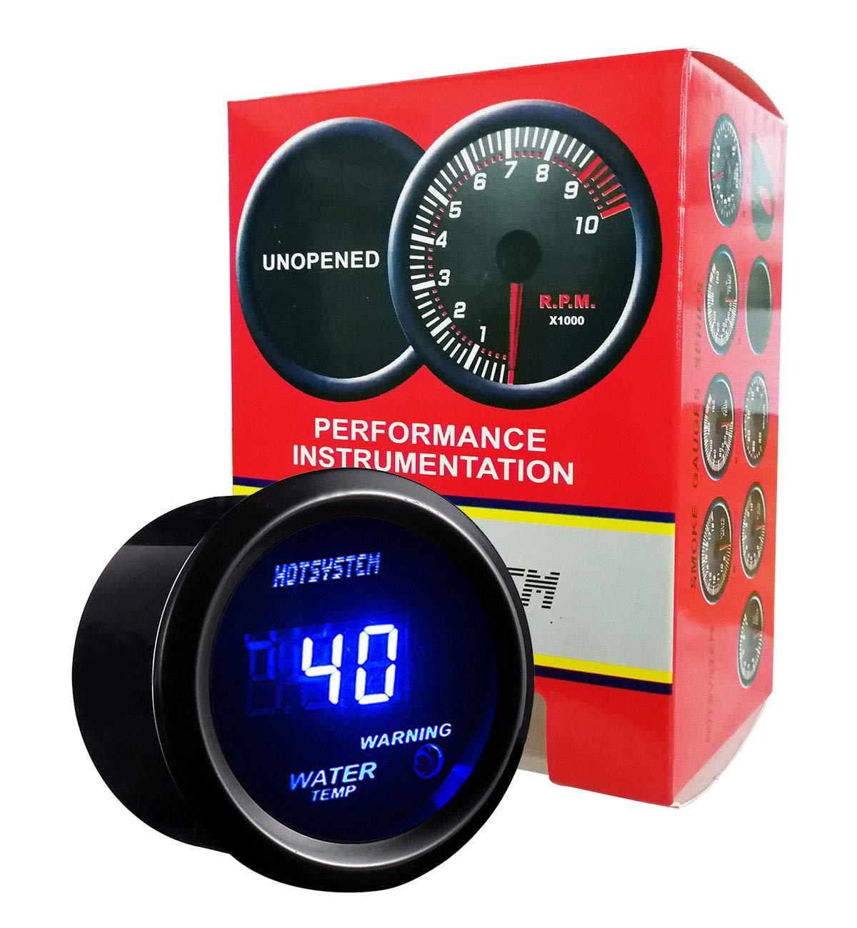 HOTSYSTEM Universal Water Temp Gauge Temperature Meter Blue Digital LED DC12V 2inches 52mm for Car Automotive(Celsius) by HOTSYSTEM