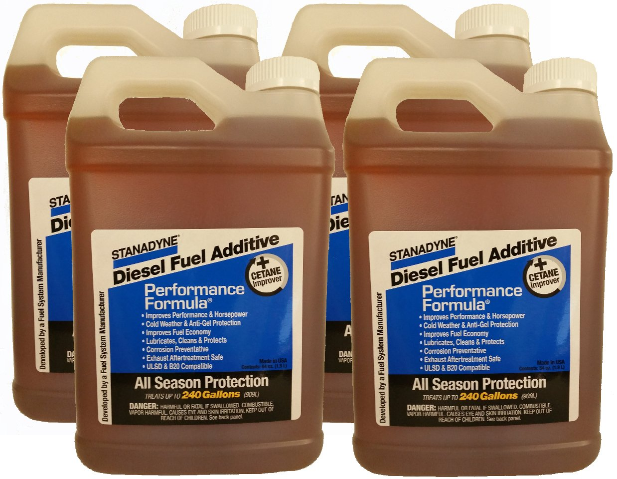 Stanadyne Performance Formula Diesel Fuel Additive 4 Pack of 1/2 Gallon Jugs - Part # 38566 by Stanadyne