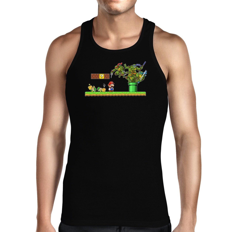 OKIWOKI Camiseta de Tirantes Negra Las Tortugas Ninja ...