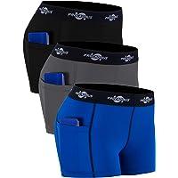 "Cadmus Women's Spandex Shorts 3"" Sport Pro w Side Pockets"